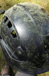 There was so much pollen coming off the Douglas firs during a warm day last week, that my climbing helmet starting to have a golden sheen.